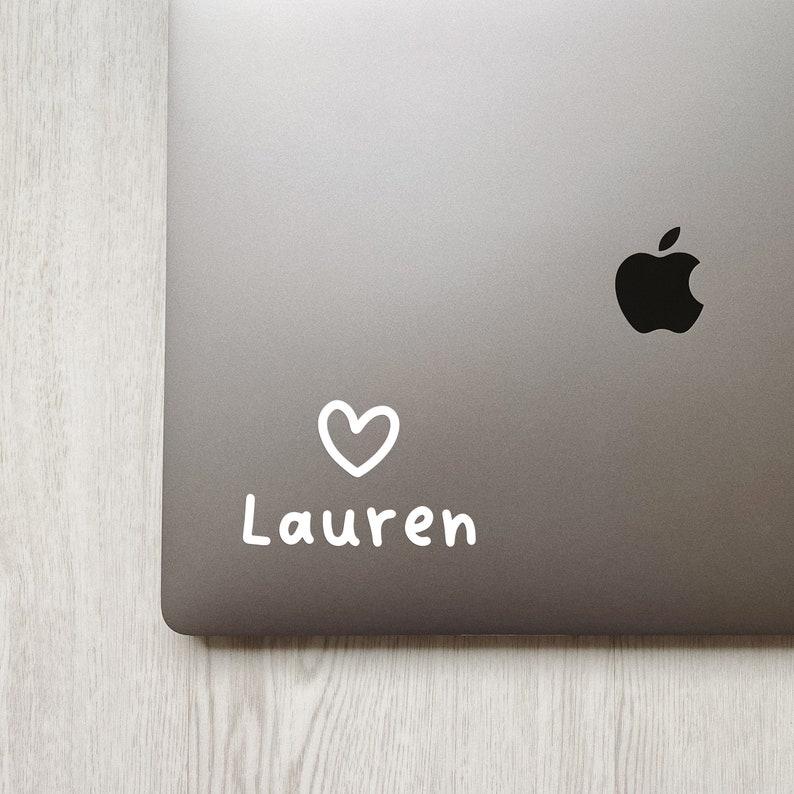 MacBook Mug Personalized Name Decal iPad Cute Unique Gift Water Bottle Custom Laptop Sticker Laptop