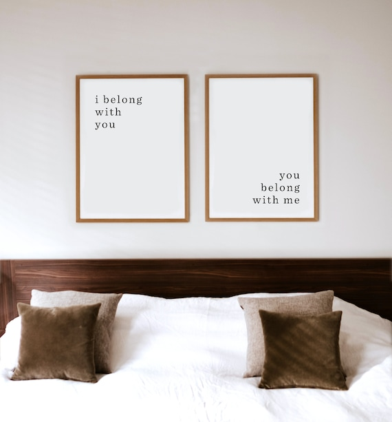 Bedroom Wall Art Quote Wall Art Quote Print Farmhouse Etsy