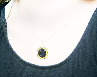 Sagittarius necklace, zodiac jewellery for November or December birthday
