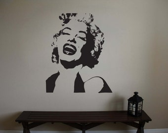 "Marilyn Monroe Vinyl Wall Sticker Decal 44""h x 39""w"