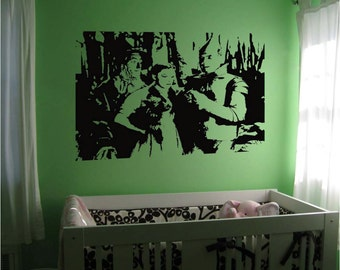 "Wizard of Oz Vinyl Wall Sticker Decal 22""h x 28""w"
