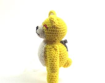 Monster Bear - Robot Bear - Crochet Bear - Amigurumi Bear - Monster Plushie - Bear Plushie - Robot Plushie - Anime Robot - Anime Plushie -