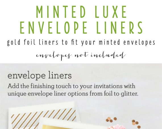 minted luxe envelope liners (envelopes not included) - set of 10