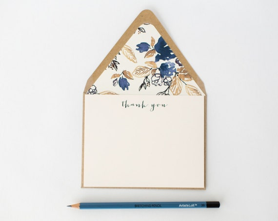 modern thank you cards / notecard set / stationery / card set / flat wedding thank you cards / baby shower cards / modern flat card set