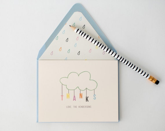 personalized baby shower thank you cards (sets of 10) // baby boy / baby girl / gender neutral / baby shower gift