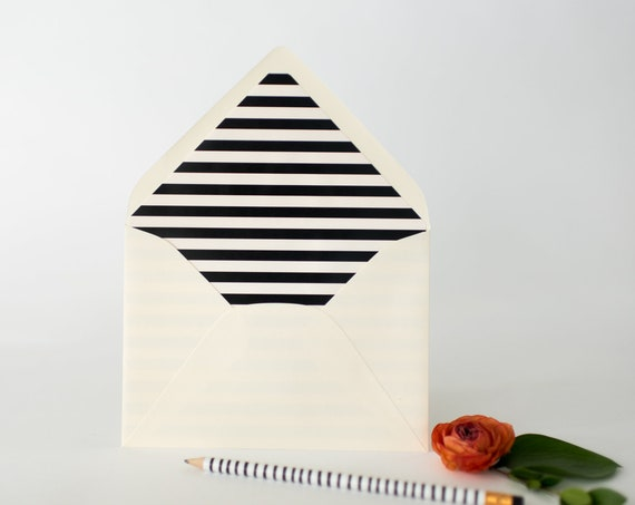 regular lined envelopes (16 patterns and colors)  // envelope liners / lined envelopes / wedding invitation / address printing / custom