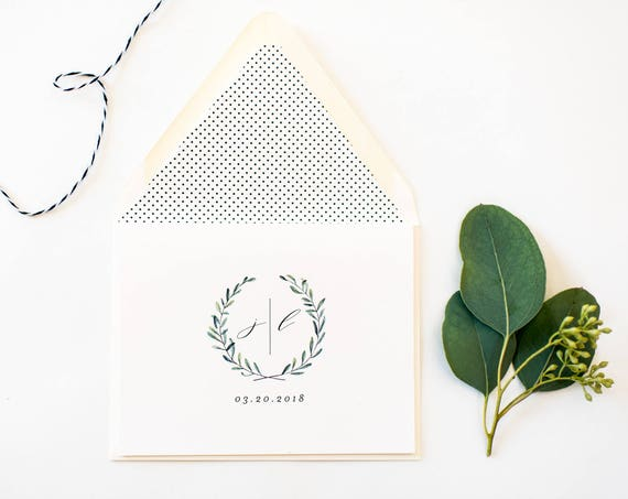 james greenery thank you cards // wedding thank you cards / personalized / stationery / card set (sets of 10)