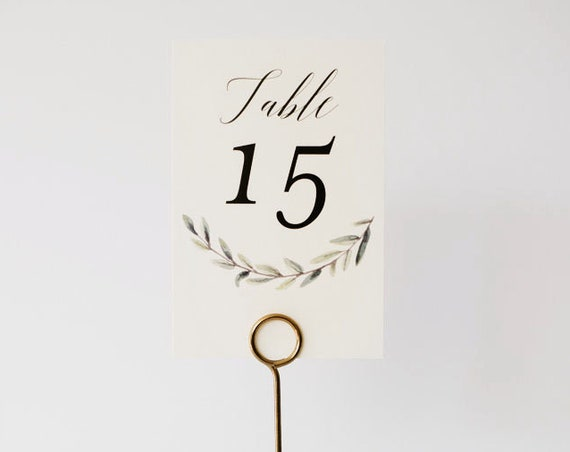 NEW! rachel greenery table numbers // winery olive branch watercolor rustic eucalyptus custom modern table numbers