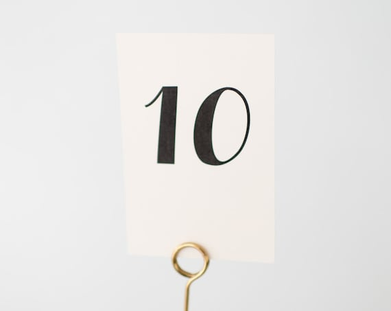 beatrice table numbers  //  lola louie paperie