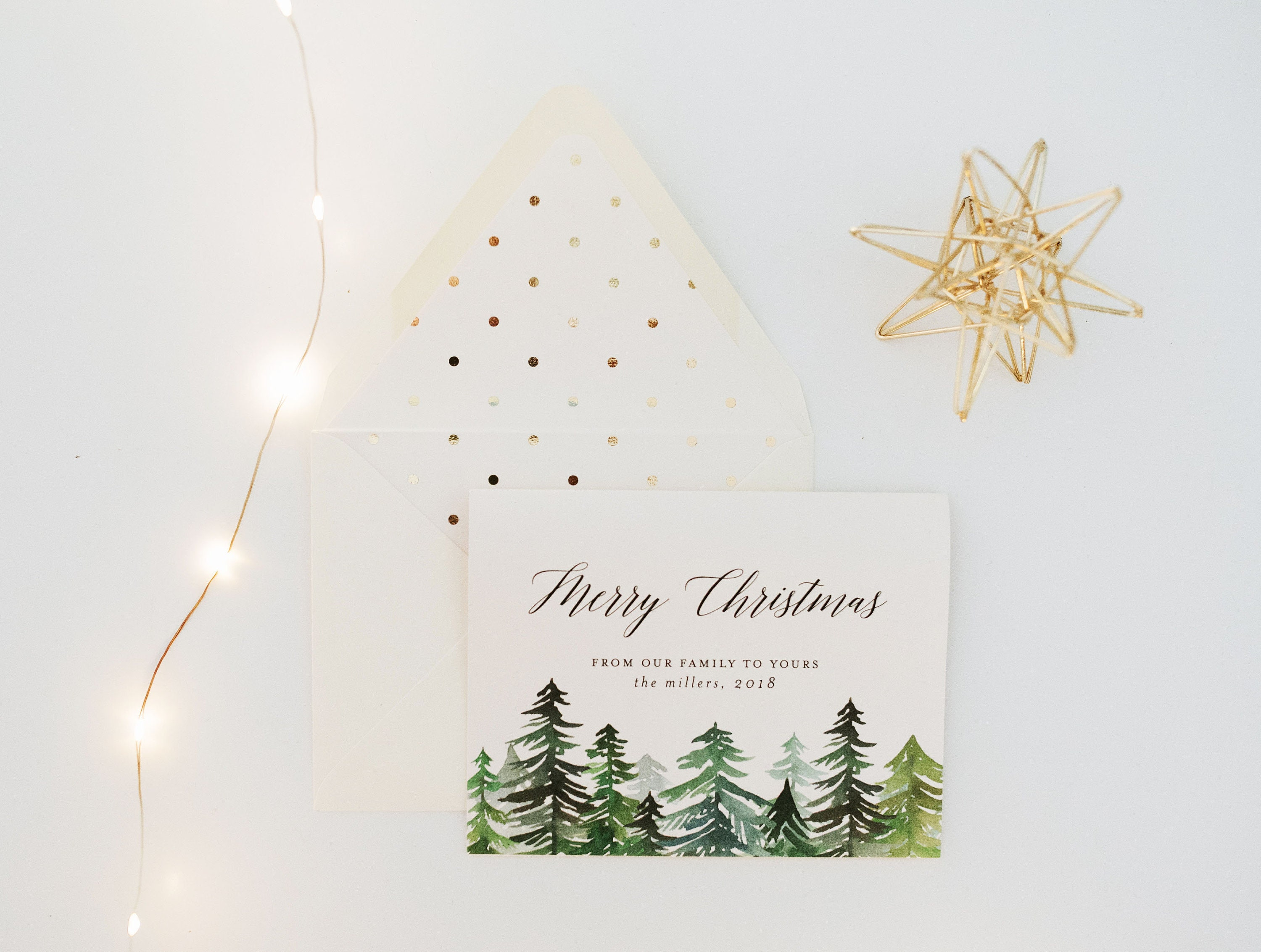 NEW! personalized christmas cards / holiday cards set / pack (set of ...