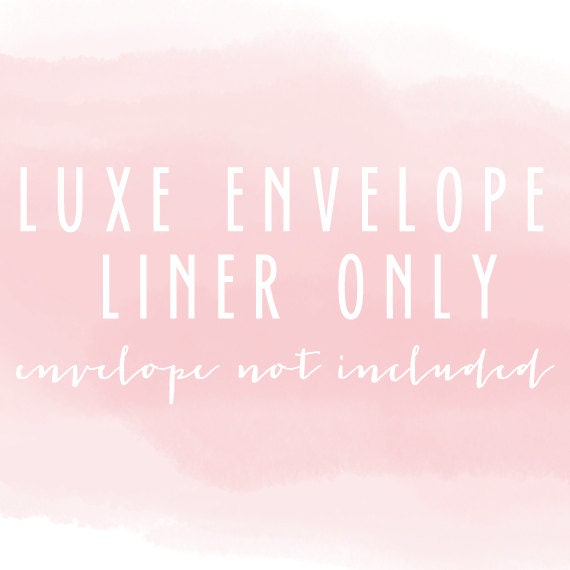 luxe envelope liner only (envelope not included) - set of 10