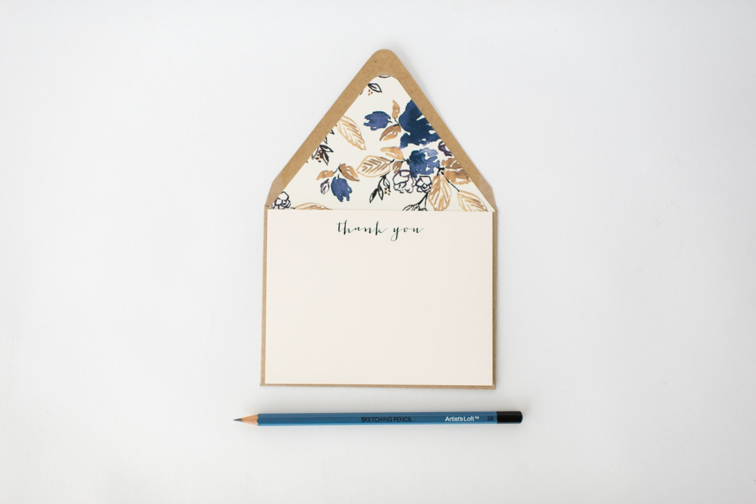 Modern Thank You Cards Notecard Set Stationery Card Set Flat