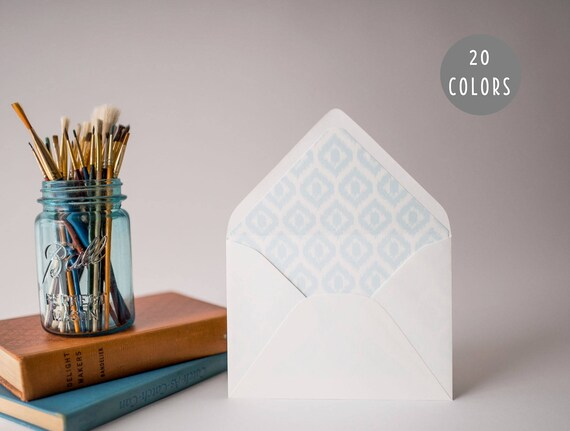 ikat lined envelopes (20 color options) - sets of 10 // envelope liners lined envelopes modern wedding shower party invitation invite
