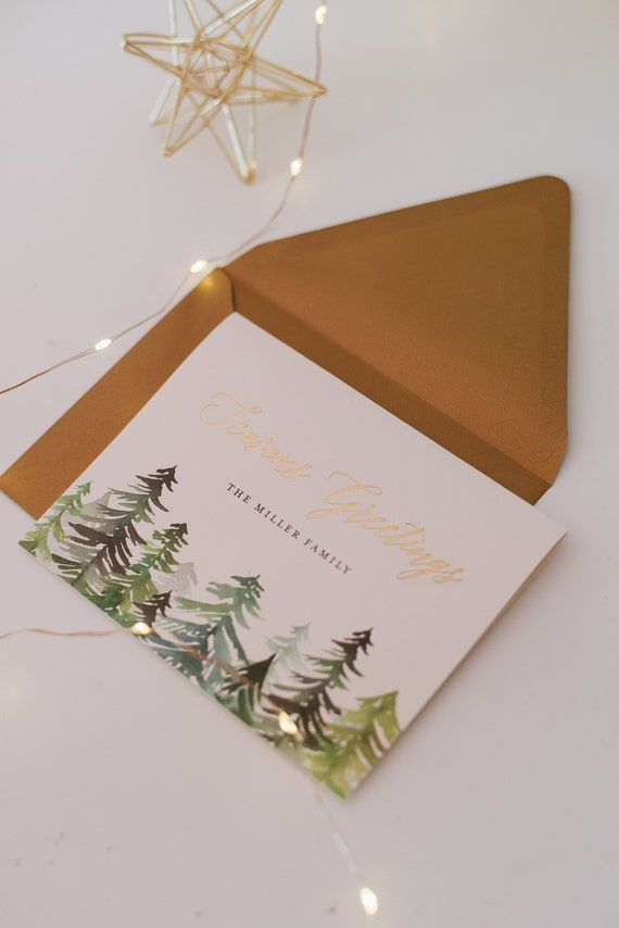 NEW personalized gold foil christmas cards / holiday cards | Etsy