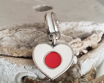 Authentique Argent Sterling 925 Lovely Rouge Daruma Charm Bead Bijoux Pour Garçons//Fille