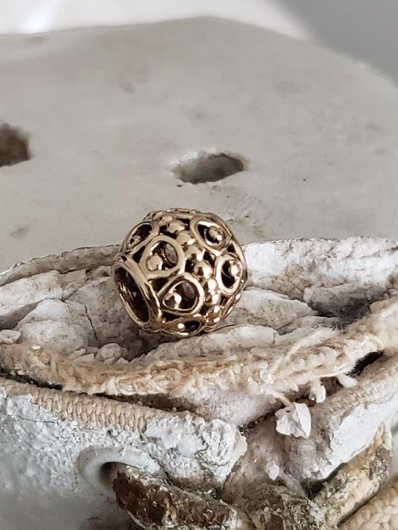 03e44e616 Authentic Pandora Gilded Bird Cage Charm 14k Gold Hallmarked | Etsy