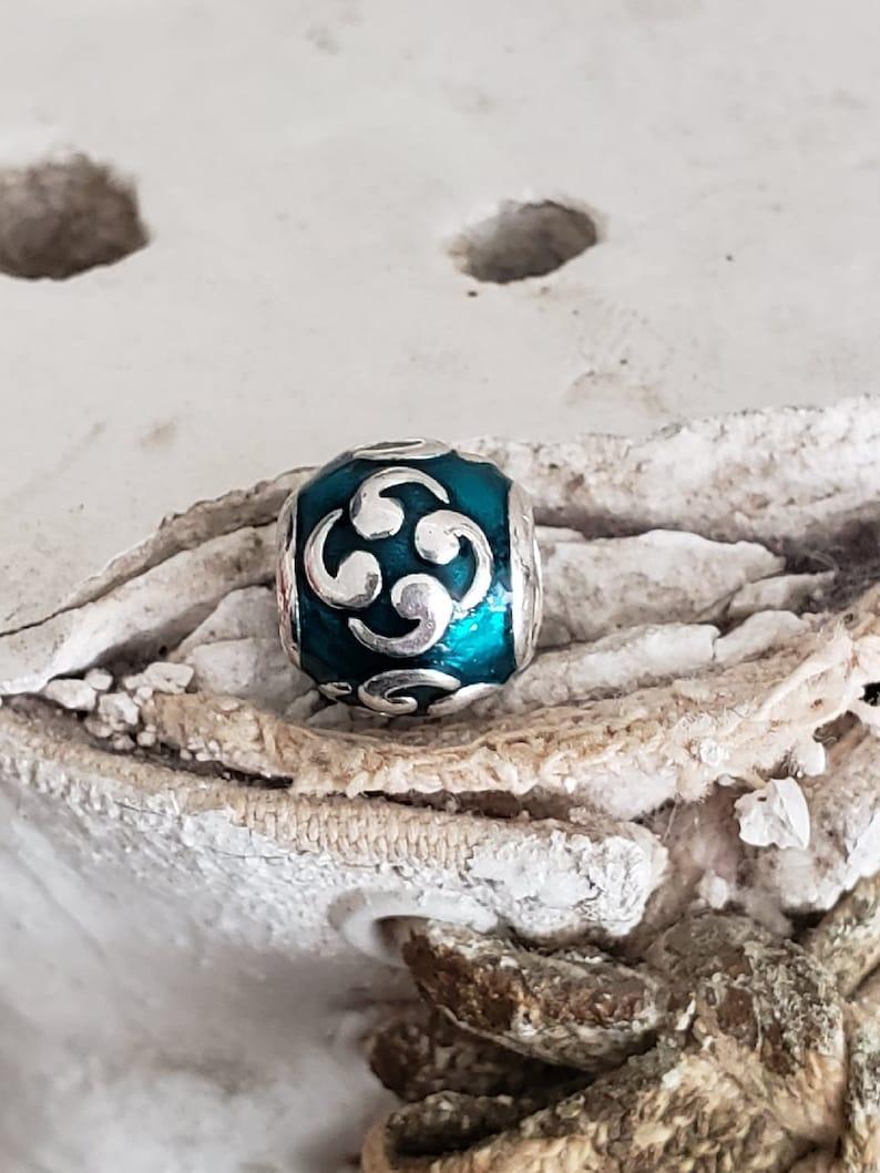5259c22e1ca80 Authentic Pandora Turquoise Zen Charm Sterling with Enamel Hallmarked 925  ALE Item#790491EN08 Retired/ Buddhism/ Yoga Girl/ Guru/Mentor