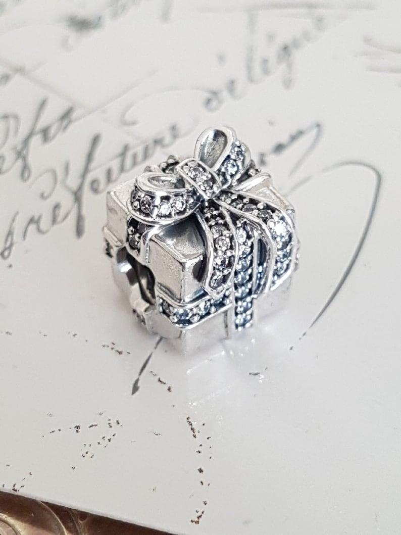943c19728 Authentic Pandora Sparkling Surprise Present Charm Sterling | Etsy