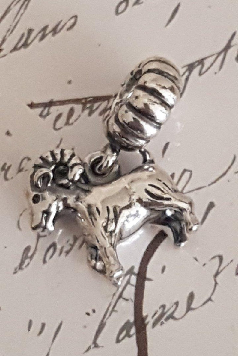 7c34b09aa Authentic Pandora Sheep Ram Charm Bead Sterling Silver | Etsy