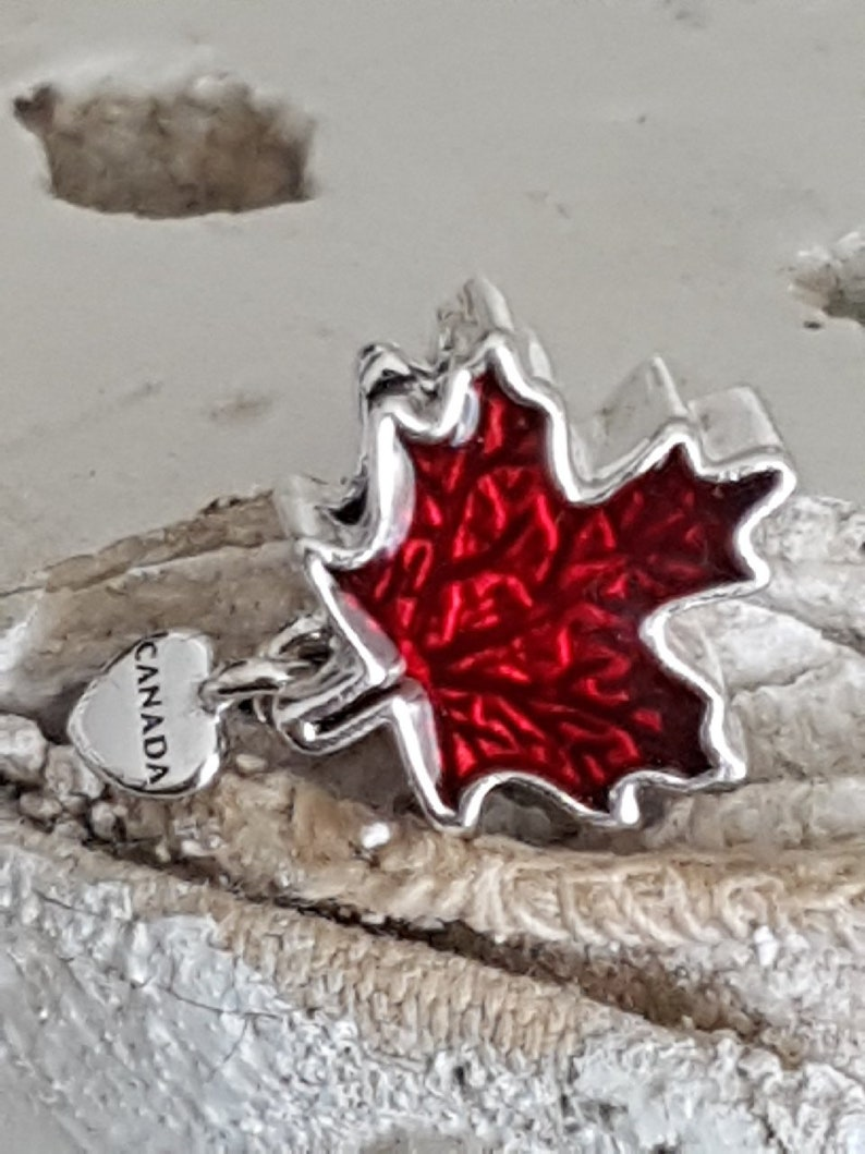 3c3b8a69a Authentic Pandora Love Canada Charm 2018 Sterling Silver Red | Etsy