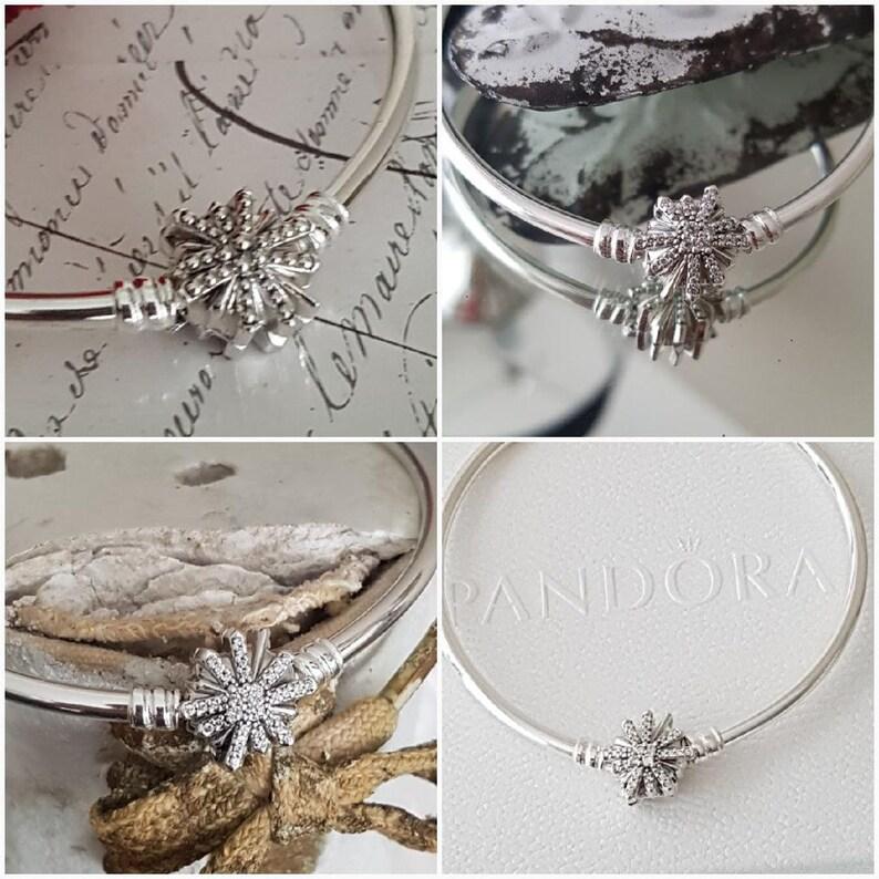 ed47c5028 Authentic Pandora Fireworks Clasp Bangle Bracelet Limited | Etsy