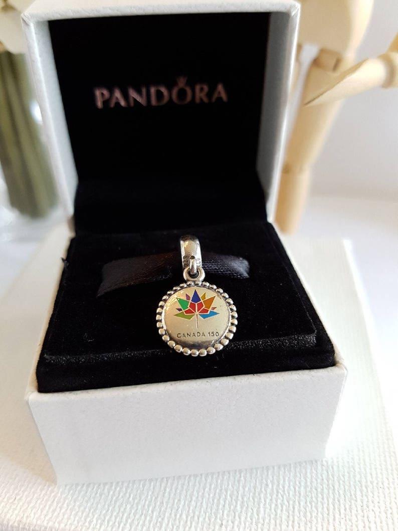 cbdd924f71 STUNNING Authentic Pandora Canada 150 Birthday Charm Rainbow | Etsy