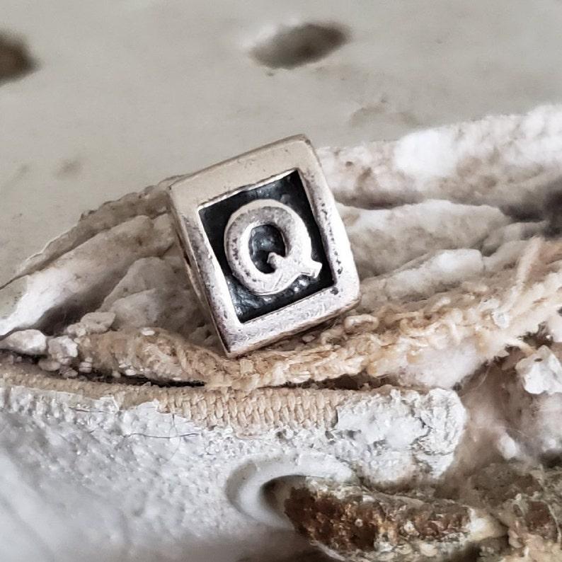 39211af43 Authentic Pandora Alphabet Block Letter Initial Q Charm | Etsy