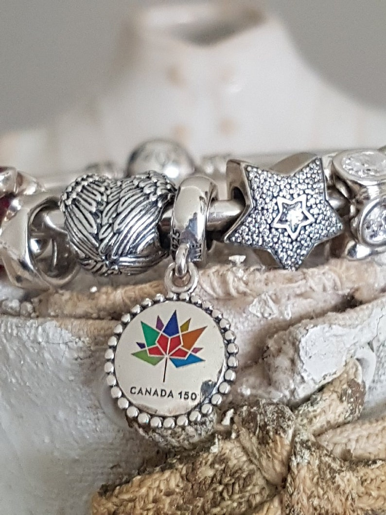 0080fbf88 STUNNING Authentic Pandora Canada 150 Birthday Charm Rainbow | Etsy