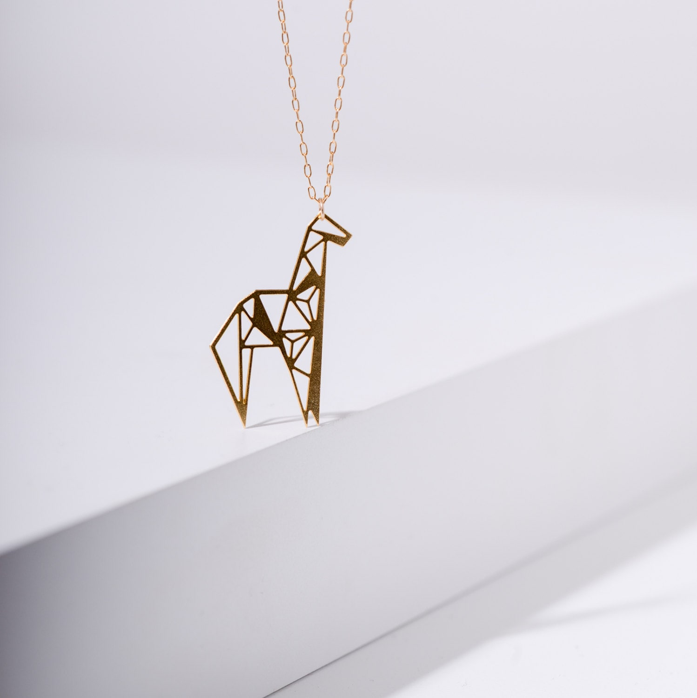 MIZYAN's geometric giraffe necklace origami giraffe - photo#16