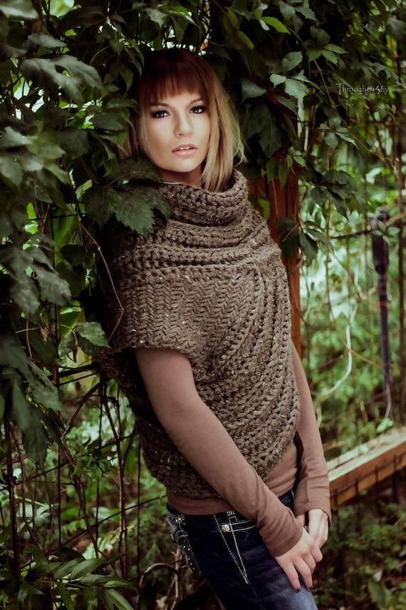 Katniss inspiriert Cowl Jägerin Kutte Weste | Etsy