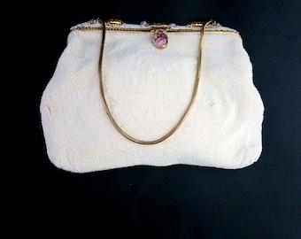 00fa1093d8d9 Magid vintage hand beaded purse