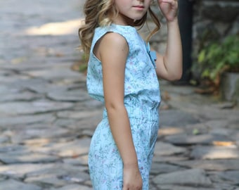 Jumpsuit for girls, Long jumpsuit girl, Size 4T, 5T and 6 years