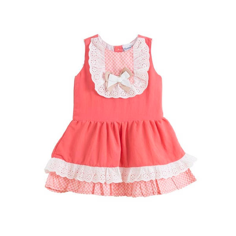 c72fdf880310 Pink dress pink and white baby dress summer romper baby