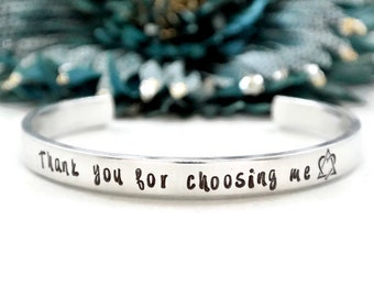 Adopted Mom Gift | Adoption Jewelry | Thank You For Choosing Me Bracelet | Adoption Gifts for Mom | Gotcha Day Gifts | Mother's Day Gift