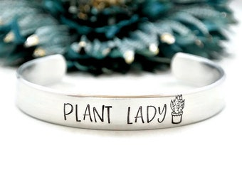 Plant Lady Bracelet | Crazy Plant Lady | Gardening Gift | Plant Mom Gift | Florist Gift | Funny Mother's Day Gift