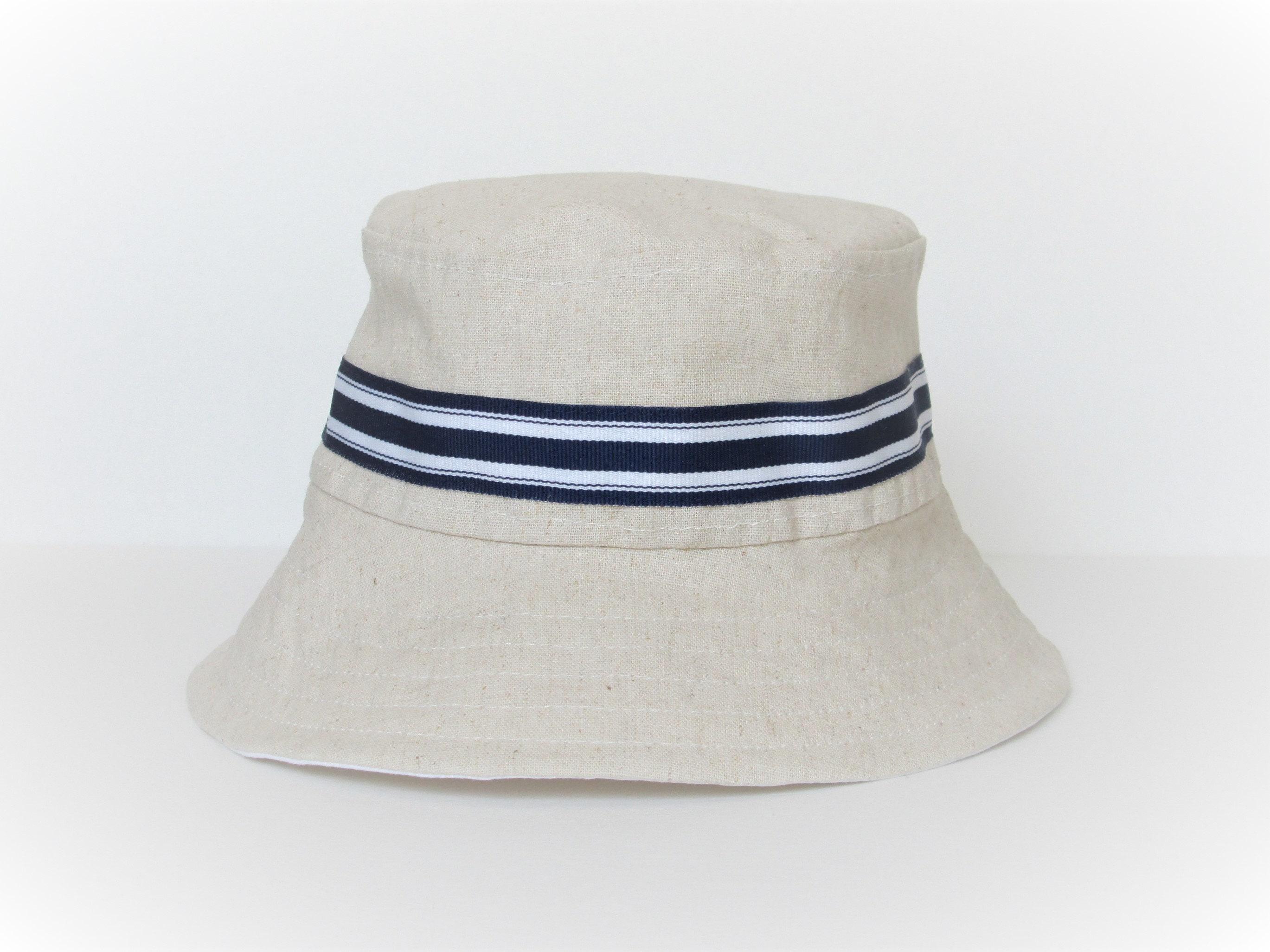 Natural Baby Bucket Hat Linen Baby Sun Hat Children s  ff8ffb9fa48