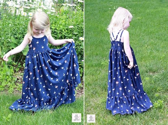 a71d32d3032f Girl s Maxi Dress CUSTOM Girl s Summer Dress