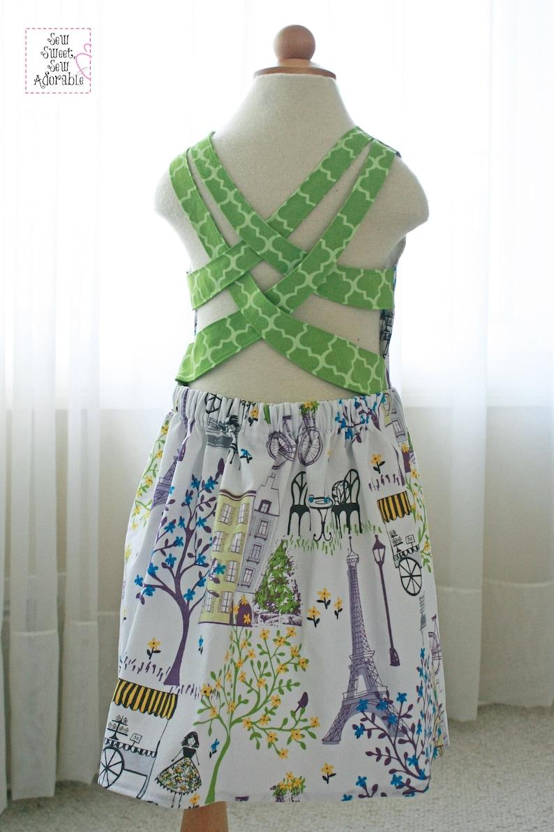 63e65cb1cbd Summer Dress Sundress Sun Dress Cross Back Dress Cross   Etsy