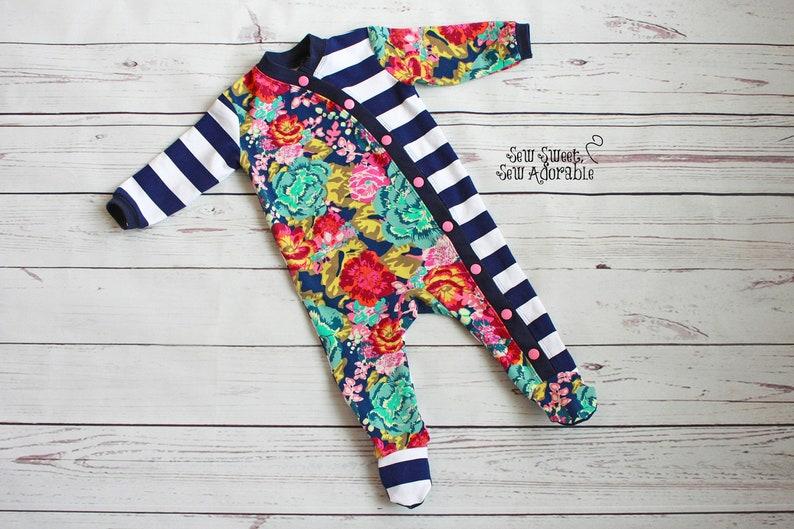 69c11751d673 Baby Sleeper CUSTOM Infant Sleeper Snap Up Pajamas Baby