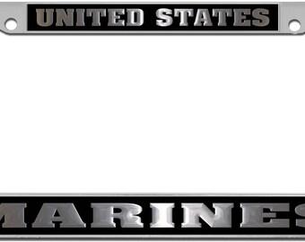 F4 PHANTOM U.S VETERAN Military Metal Motorcycle License Plate Frame Tag