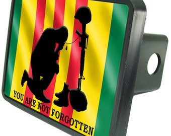Vietnam Flag Trailer Hitch Cover Plug Novelty Veteran War