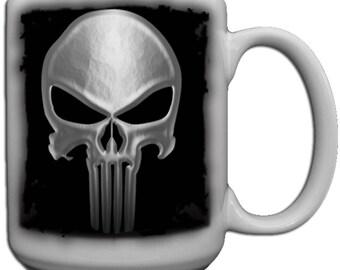 95434dd508c1d Large skull mug | Etsy