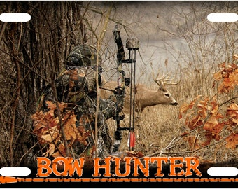 Bow Hunter Surprise License Plate Tag