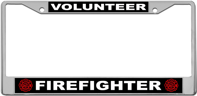 Volunteer Firefighter License Plate Frame | Etsy