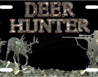 Deer Hunter Camo License Plate Tag