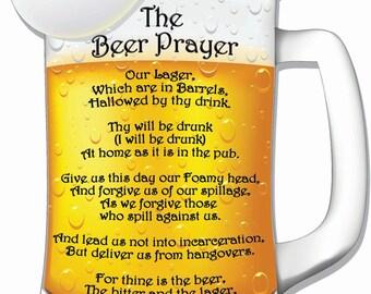 Beer Prayer Beer Mug Hardboard Wall Sign