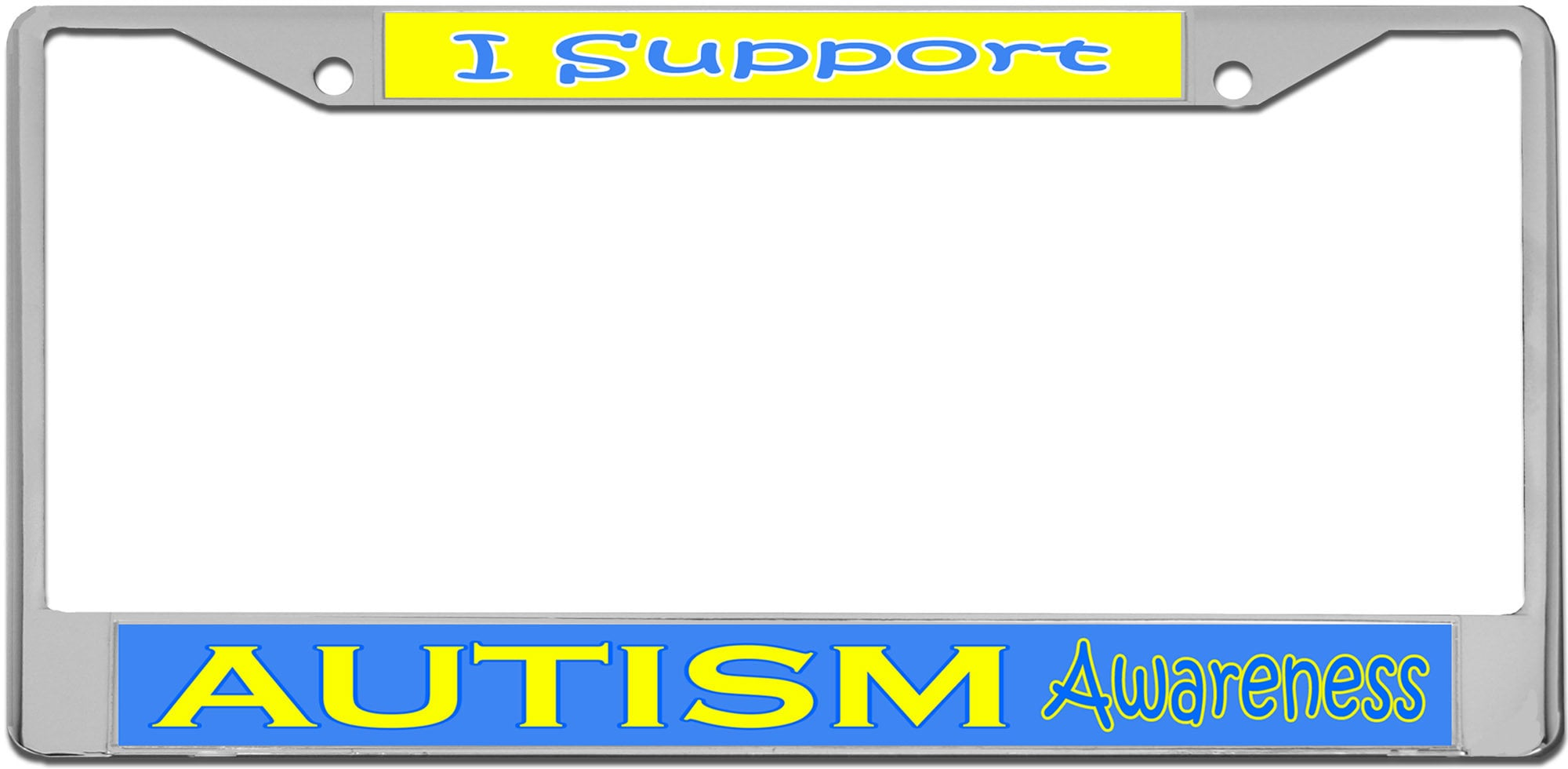 Autism Awareness License Plate Frame   Etsy