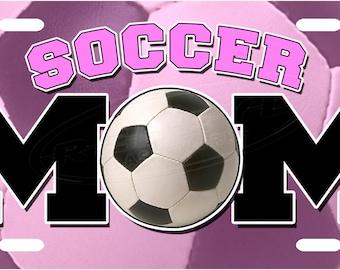 Soccer Mom License Plate Tag