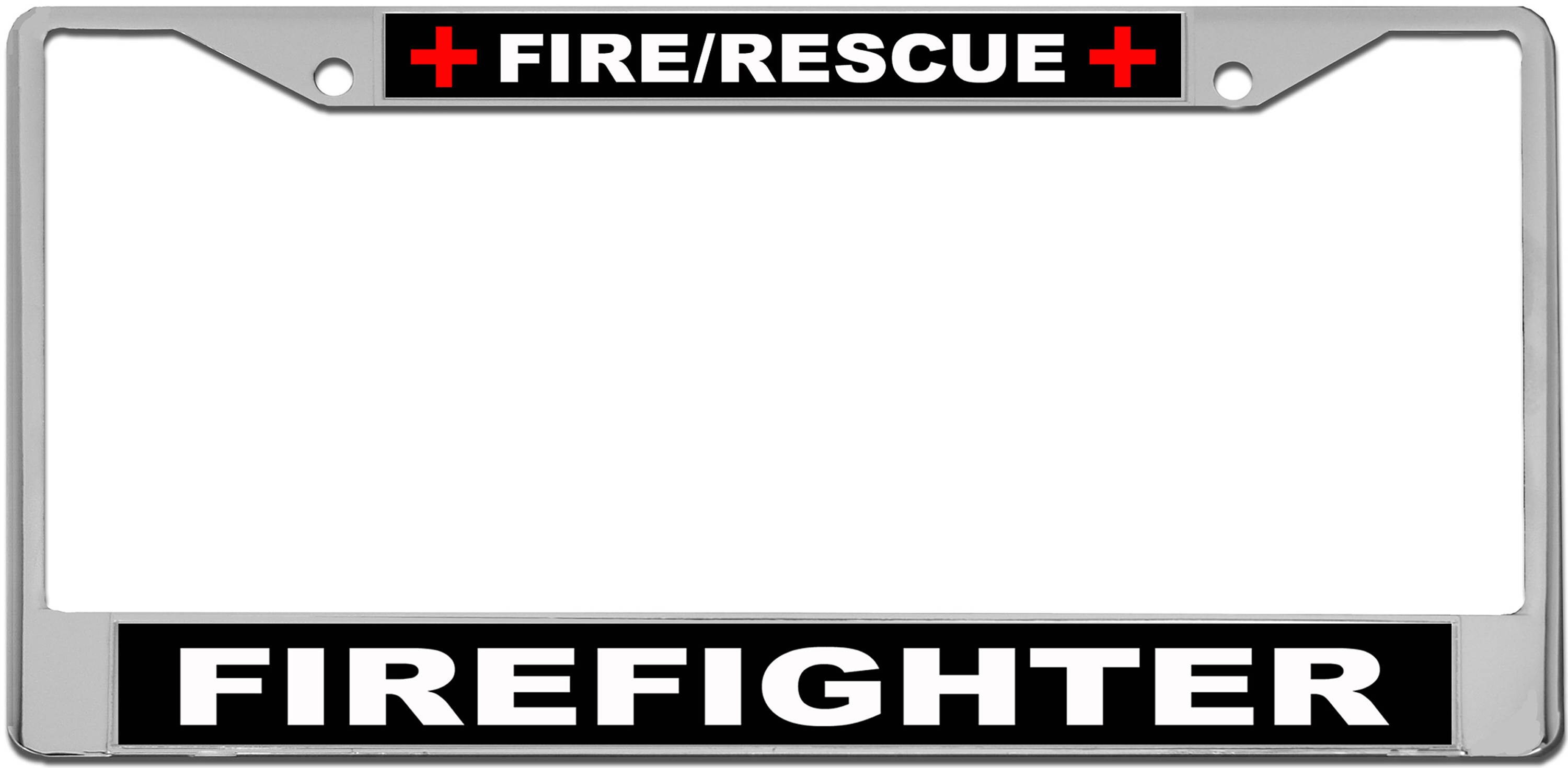 Fire & Rescue Firefighter License Plate Frame | Etsy