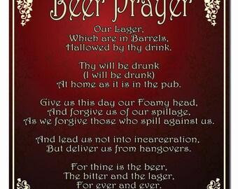 Beer Prayer Hardboard Wall Sign